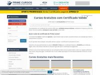 Primecursos.com.br - Cursos Gratuitos - Prime Cursos Online Grátis com Certificado Válido