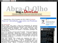 Abraoolho-dmilk.blogspot.com - Abra-O-Olho - BLOG DO David Leite | Comunicador Social Multimídia