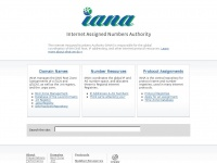 Iana.org - Internet Assigned Numbers Authority
