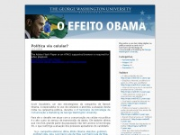 O Efeito Obama | Blog oficial do Seminário de Estratégia de Comunicação e Marketing da The George Washington University