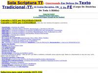 Sola Scriptura TT, defesa da Biblia e fe, fundamentalista