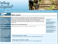Whycycle.co.uk - WhyCycle? - The impartial cycling advice site