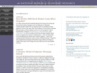 Nber.org - The National Bureau of Economic Research