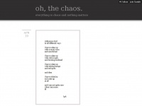 Oh-the-chaos.tumblr.com - Tumblr