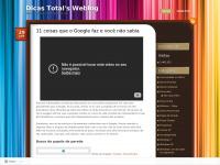 Dicastotal.wordpress.com - Dicas Total's Weblog | Dicas para seu Computador e Cia