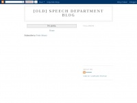Speechdepartmentupdate.blogspot.com - [Old] Speech Department Blog