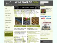 Wineanorak.com - The wine anorak: one of the UK's leading wine sites, with wine features, wine controversies, wine travel advice, a directory of UK wine merchants, producer profiles, wine photographs and a special section for those new to wine