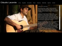 Site do cantador, compositor e violeiro Claudio Lacerda