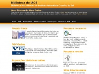 Biblioteca do IACS - Colégio internato masculino e feminino