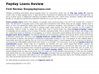 Jihadmonitor.org - PayDay Loans | Logbook Loans | Same Day Loans| UK Review