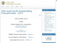 Spbbf.org - South Pacific Bodybuilding