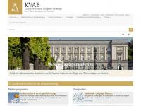 Kvab.be - Home | Koninklijke Vlaamse Academie van België voor Wetenschappen en Kunsten