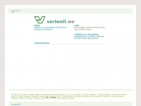 Veriwell.ws - WEBSITE.WS - Your Internet Address For Life™