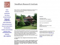 Nri.org.uk - Needham Research Institute - Home Page