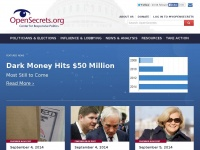 Opensecrets.org - Data on Campaign Finance, Super PACs, Industries, and Lobbying * OpenSecrets
