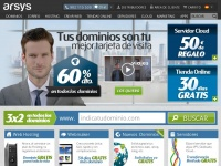 Arsys.es - Arsys - Registra tu dominio, hosting, servidores cloud
