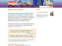 Whystudyeconomics.ac.uk - Why Study Economics