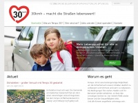 """30kmh.eu - Europäische Tempo 30 Bürgerinitative """"30kmh - macht die Straßen lebenswert!"""""""