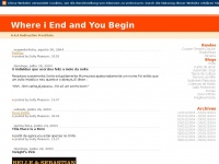 Wieayb.blogspot.de - Where i End and You Begin