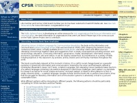 Cpsr.org - CPSR - Computer Professionals for Social Responsibility