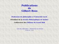 Gboss.ca - Gilbert Boss, Publications