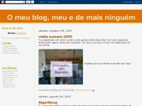 O meu blog, meu e de mais ninguém