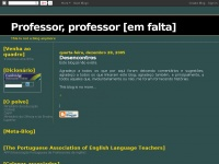 Professor, professor [em falta]