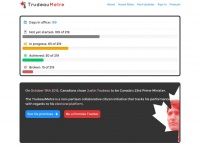 Trudeaumetre.ca - TrudeauMeter