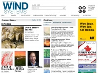 Windsystemsmag.com - Wind Systems Magazine | A website about the alternative energy, wind power.  Find articles about the wind energy industry, policy, news, and other features.