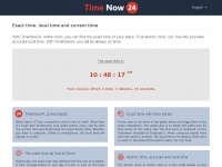 Timenow24.net - The current time and exact time