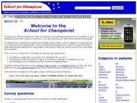School-for-champions.com - School for Champions by Ron Kurtus - online lessons for those seeking success