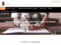 Invet-project.eu - In-VET | Preventing initial VET dropouts and fostering trainees inclusion