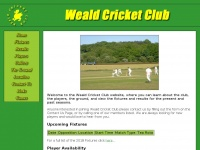 Wealdcricketclub.co.uk - Welcome to Weald Cricket Club, Kent