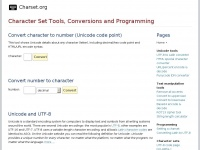 Charset.org -  Character Set & Unicode Tools and Conversions