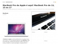 Macbookpro.com.br - MacBook Pro da Apple é aqui! MacBook Pro de 13, 15 ou 17